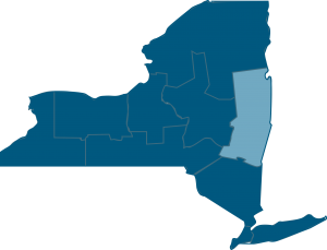 Map of the Capitol District in Upstate New York